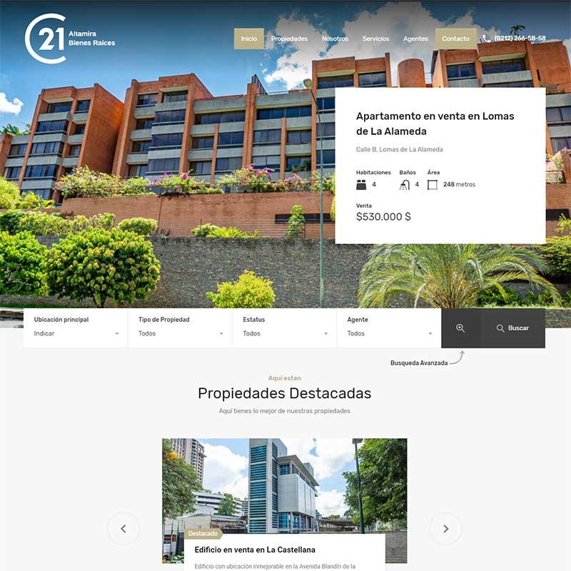 Diseño de Paginas Web para Venta de Inmuebles