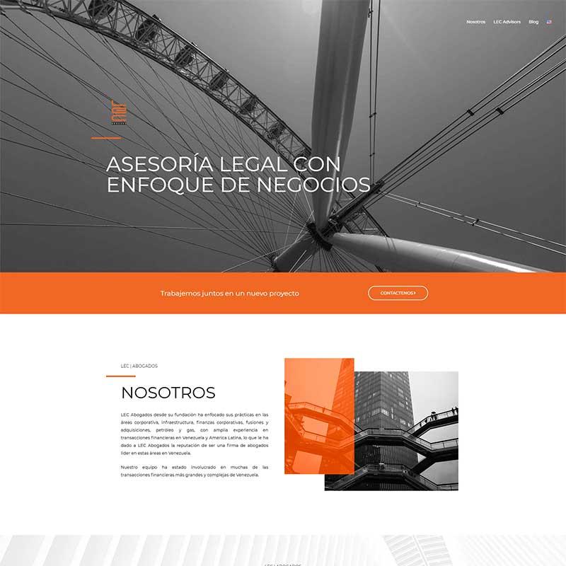 Diseño de Paginas Web para Abogados